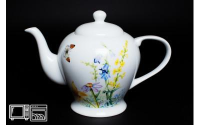 Чайник 1 литр Дейзи Бабочки, костяной фарфор
