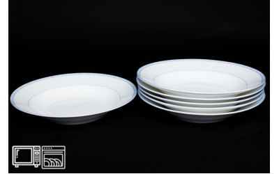 Набор тарелок 6 шт. 23см (суп) Утренний, костяной фарфор