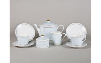 Сервиз чайный 15предм. 02160725-243B Сабина Синее плетение, Leander