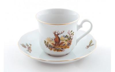 Набор чашек выс. с бл. 0,20л 6шт. 03160415-0363 Мэри-Энн, Охота, Leander