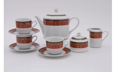 Сервиз чайный 15предм. 02160725-0979 Красная лента, Leander