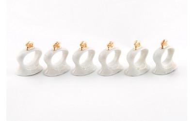 Набор колец для салфеток 6предм. 07164612-1239 Соната Золотая лента, слоновая кость, Leander