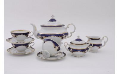 Сервиз чайный 15 предм. 07160725-1357 Соната Кобальтовый орнамент, Leander