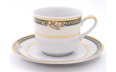 Набор чашек выс. с бл. 0,20л 4шт. 02150415-0711 Золотые фрукты, Leander