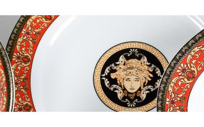Салатник 23см 02111416-B979 Красная лента Версаче, Leander