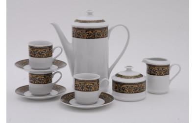 Подарочный набор кофейный Тет-а-тет 03140724-0086 Мелкие цветы, кобальтовый борт, Leander