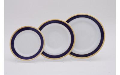 Набор тарелок 18предм.с тарел.дес. 19см 02160129-0767 Кобальтовая лента, Leander