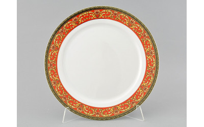 Блюдо круглое мелкое 30см 02111333-0979 Красная лента, Leander