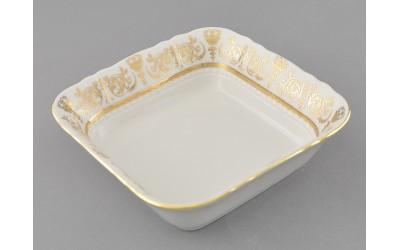 Салатник квадратный 17см 07111422-1373 Соната Золотой орнамент, отводка золото, Leander
