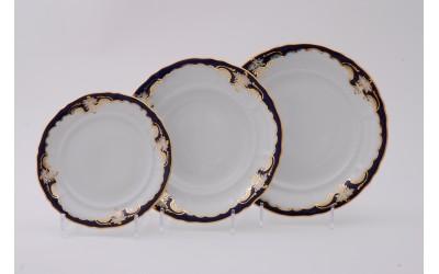 Набор тарелок 18предм.с тарел.дес. 19см 07160119-1357 Соната Кобальтовый орнамент, Leander