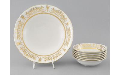Набор салатников 7 предм. 07161416-1373 Соната Золотой орнамент, отводка золото, Leander