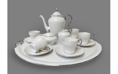 Сервиз кофейный 16 предм. с подносом 52см 26160715-2603