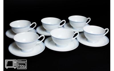 Набор чайных пар 6 шт. 200мл Утренний, костяной фарфор