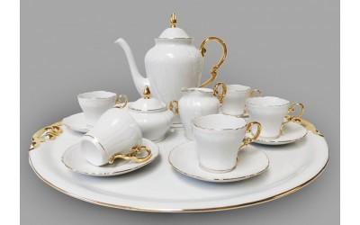 Сервиз кофейный 16 предм. с подносом 52см 26160715-2604