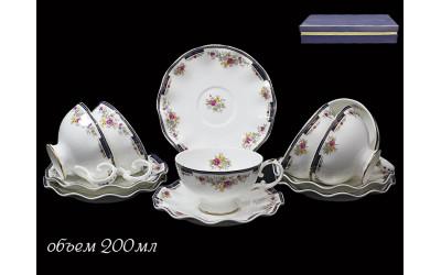 225-006 чайный набор 12 предм КОБАЛЬТОВЫЙ БОРТ