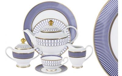 Чайный сервиз Адмиралтейский 42 предмета на 12 персон