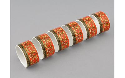 Набор колец для салфеток 6шт 02164611-0979 Красная лента, Leander