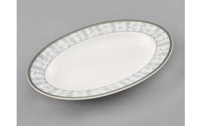 Блюдо для гарнира овальное 22см 02111735-1013 Сабина Серый орнамент, Leander