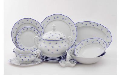 Сервиз столовый 25 предм. 03162011-0887 Мэри-Энн Синие цветы, Leander