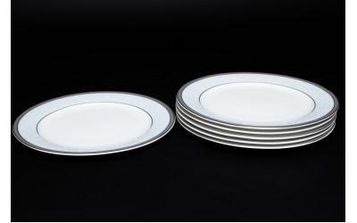 Набор тарелок 6 шт. 20 см Узор, костяной фарфор