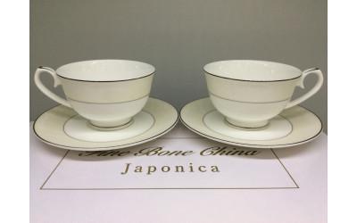 Набор чайных пар 2/4 Серый шелк PL-8008PLem-3