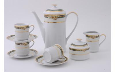 Сервиз кофейный 15 предм. чаш. 0,15л 02160714-0711 Золотые фрукты, Leander