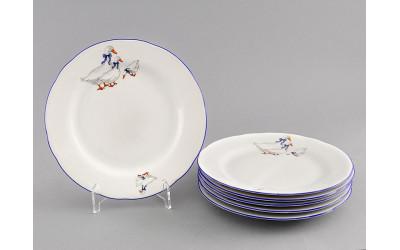 Набор тарелок десертных 6 шт. 17см 03160317-0807 Гуси, Leander