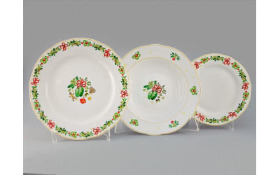Набор тарелок 18предм. с тар. дес. 19 03160119-2571 Мэри-Энн Шишки, Leander