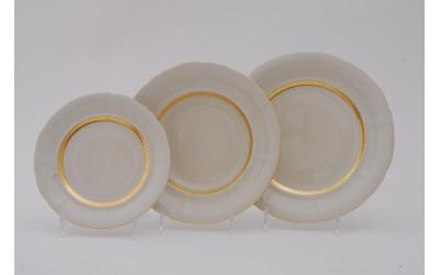 Набор тарелок 18предм.с тарел.дес. 19см 07560119-1239 Соната Золотая лента, слоновая кость, Leander