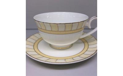 Набор чашек на 2 персоны Желтые дольки J06-018GL-3, Japonica