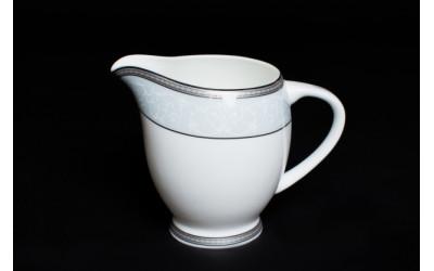 Молочник 10см Узор, костяной фарфор