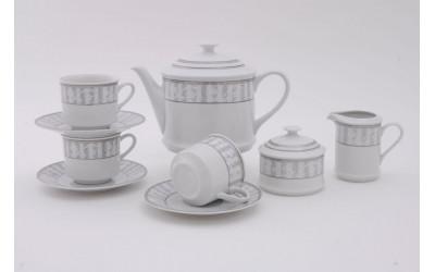 Сервиз чайный 15предм. 02160725-1013 Сабина Серый орнамент, Leander