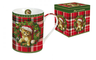 Кружка (клетка) Рождественский котенок