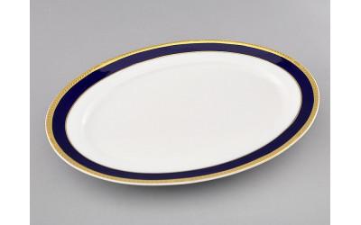 Блюдо овальное 35см 02111523-0767 Кобальтовая лента, Leander