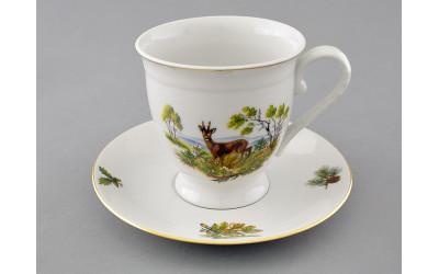 Чашка выс. с блюдцем 0,30л 36120417-0363 Мэри-Энн, Охота, Leander