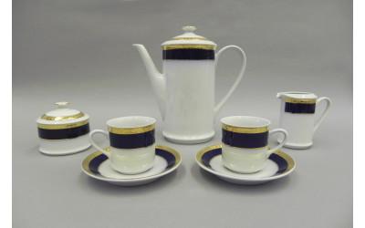 Сервиз кофейный мокко 15 предм. 02160713-0767 Кобальтовая лента, Leander