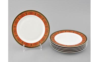 Набор тарелок десертных 6шт 19см 02160329-0979 Красная лента, Leander