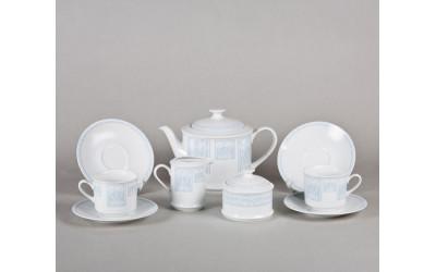 Сервиз чайный 15предм. 02160725-242B Сабина Голубой узор, Leander