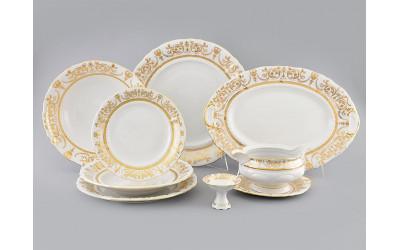 Сервиз столовый 24предм. 07162012-1373 Соната Золотой орнамент, отводка золото, Leander