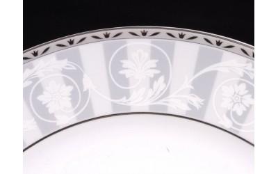 Ваза тонкая 15см 03118222-1013 Сабина Серый орнамент, Leander