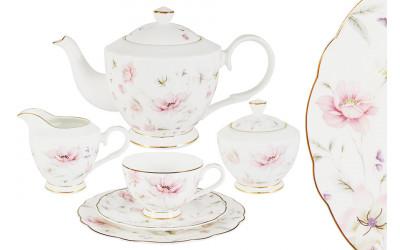 Чайный сервиз Розовый танец 21 предмет на 6 персон
