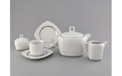 Сервиз чайный 15 предм. 69160725-0011 Отводка платина, Leander