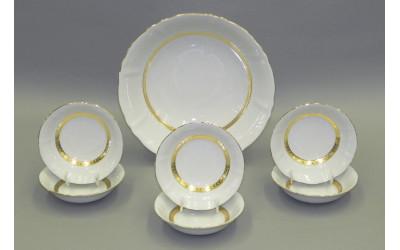Набор салатников 7 предм. 07161417-1239 Соната Золотая лента, слоновая кость, Leander