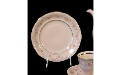 Набор тарелок 18 предм. с тар.дес.19см 07260119-0158 Верона, Мелкие цветы, отводка золото, Leander