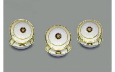 Набор салатников 6шт 13см 02161411-A126 Версаче золотая лента, Leander