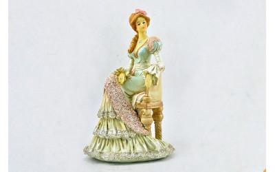 Блюдо овальное 36см 07111513-0158 Верона, Мелкие цветы, отводка золото, Leander