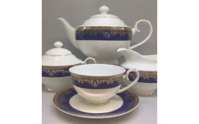 Сервиз чайный 17 предметов на 6 персон Сапфир EMGD-8122BL-4, Japonica