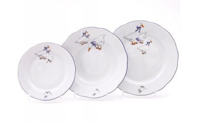 Набор тарелок 18предм. с тар. дес. 19 03160119-0807 Гуси, Leander