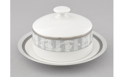 Масленка круглая 0,25кг 02122315-1013 Сабина Серый орнамент, Leander