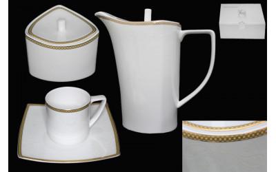 125-143 чайный сервиз 16предметов GALAXY GOLD